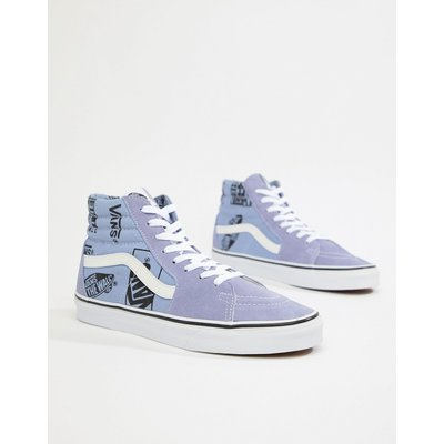 VANS Vans - SK8-Hi - Blaue Sneaker mit Logoprint