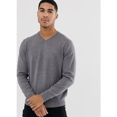 LACOSTE Lacoste - Pullover mit V-Ausschnitt - Grau