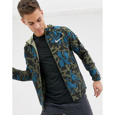NIKE Nike Running - Jacke mit khaki Militarymuster