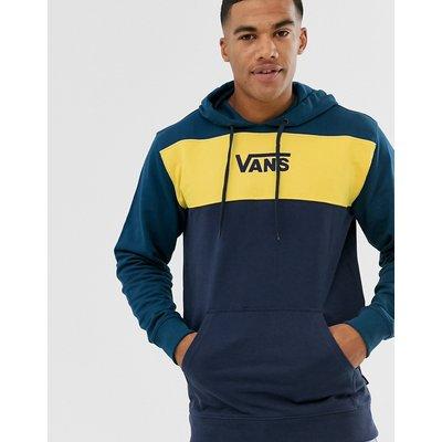 VANS Vans - Kapuzenpullover in Blockfarben Marine/Gelb - Navy