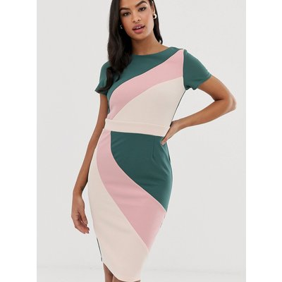 Paper Dolls colour block short sleeve pencil dress