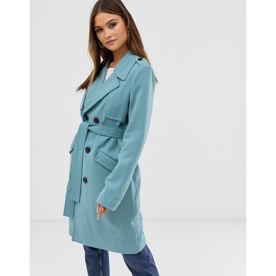 VERO MODA Vero Moda - Trenchcoat mit Gürtel in Colourblock-Design - Blau