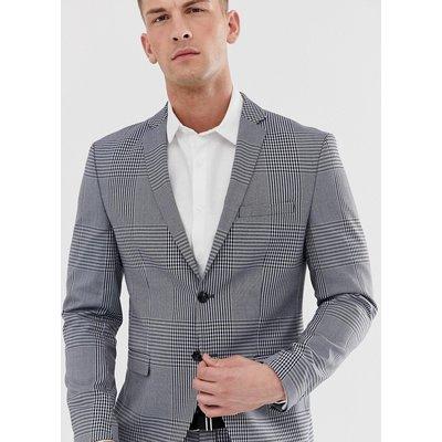 JACK & JONES Jack & Jones Premium - Schmal geschnittene Anzugjacke in Grau kariert - Grau