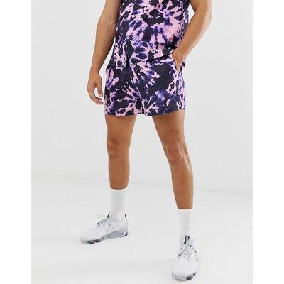 RIVER ISLAND River Island - Seersucker-Shorts in Violett mit Batikdesign - Violett