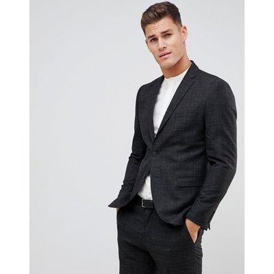 SELECTED Selected Homme - Schwarz gefleckte Anzugjacke mit schmaler Passform - Schwarz