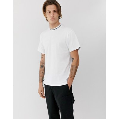 VANS Vans - Weißes T-Shirt mit gestricktem Kragen - Weiß