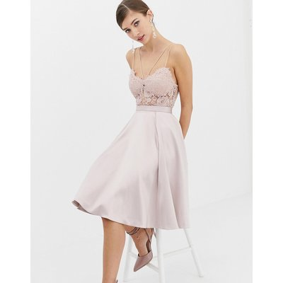 Closet Satin Panel Midi Skirt