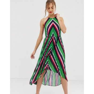 Ted Baker Shannah pleated maxi dress in stripe