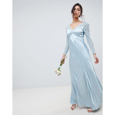 Ghost bridesmaid maxi dress with lace sleeves