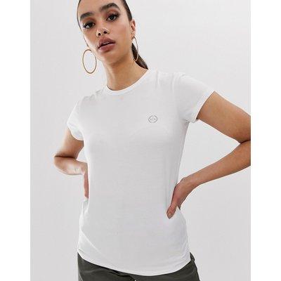 ARMANI EXCHANGE Armani Exchange - T-Shirt mit Rundhalsausschnitt und Logo - Schwarz