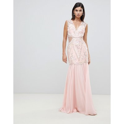 Forever Unique cut out embellished maxi dress
