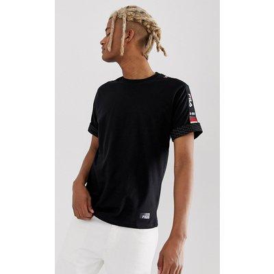 FILA Fila - Darby - Schwarzes T-Shirt mit Logostreifen - Schwarz