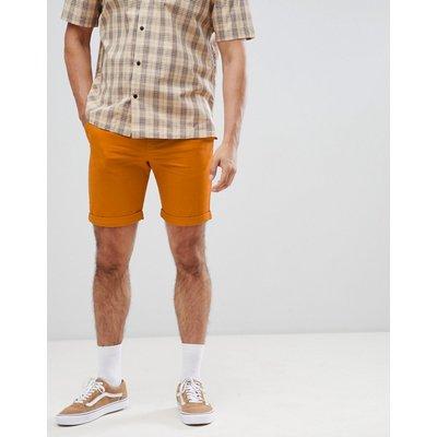 WEEKDAY Weekday - Shorts in Acid-Waschung in Orange - Orange