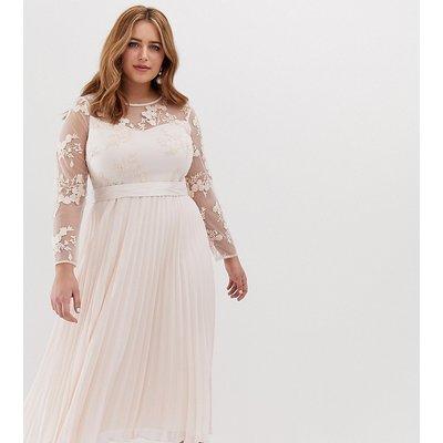 Coast Plus Odetta embroidered bridesmaid midi dress