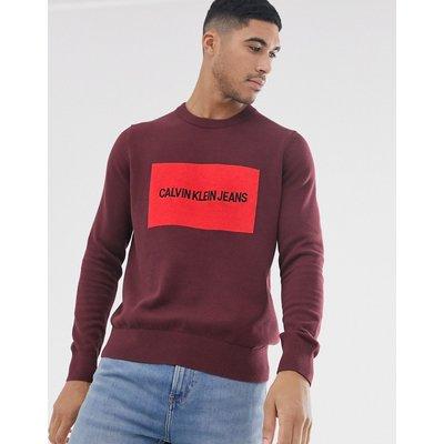 CALVIN KLEIN Calvin Klein Jeans - Institutional - Pullover mit Logofeld - Rot