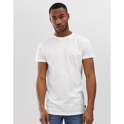 D-STRUCT D-Struct - Langes Basic-T-Shirt - Weiß