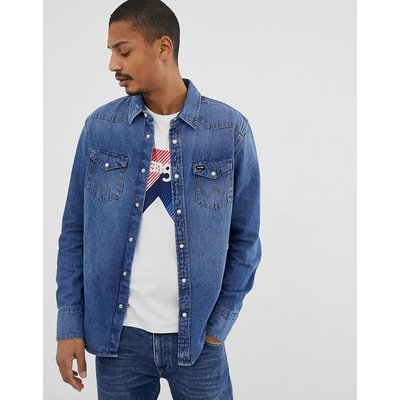 WRANGLER Wrangler - Icons 27mw - Jeanshemd im Western-Stil mit heller 2-Jahr-Waschung - Blau