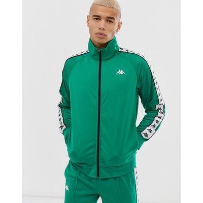 KAPPA Kappa - Banda Anniston - Grüne Sportjacke mit aufgesetzten Streifen am Ärmel - Grün