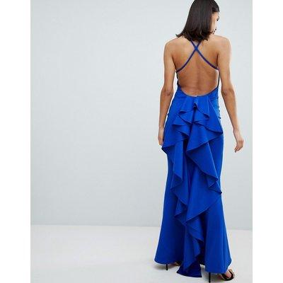 City Goddess Waterfall Back Maxi Dress