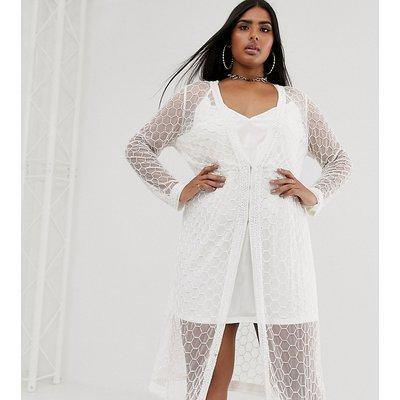 ASOS DESIGN Curve embellished robe midi dress
