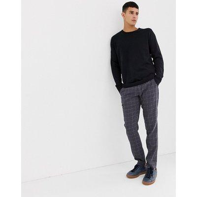 SELECTED Selected Homme - Pullover mit Rundhalsausschnitt - Schwarz