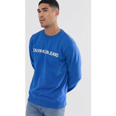 CALVIN KLEIN Calvin Klein Jeans - Institutional - Sweatshirt mit Box-Logo - Blau