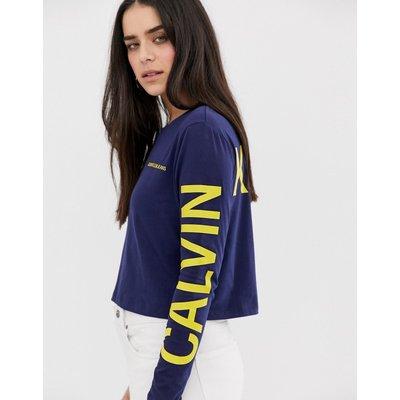 CALVIN KLEIN Calvin Klein Jeans - Langärmliges Shirt mit Logo - Blau