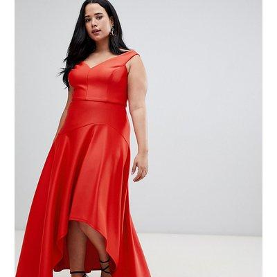 Coast Plus Belle draped hem maxi dress