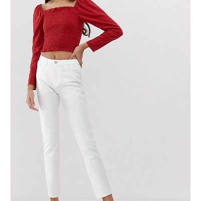 ONLY Only Tall - Weiße Mom-Jeans - Weiß
