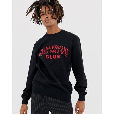 BILLIONAIRE BOYS Billionaire Boys Club - Schwarzes Sweatshirt mit aufgesticktem Schriftlogo - Schwarz