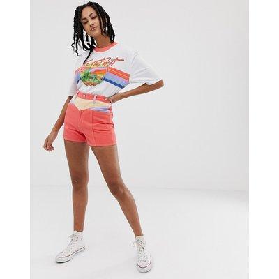WRANGLER Wrangler - Jeans-Shorts mit Retro-Säumen - Orange
