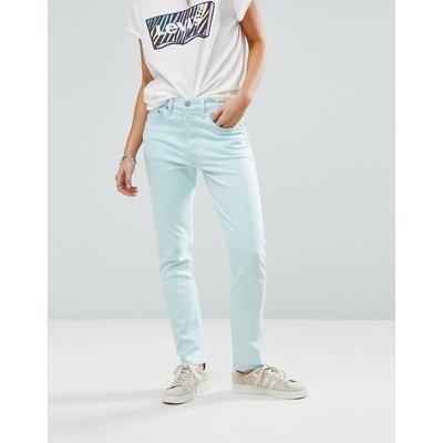 Jeans im Sale - Levi's - 501 - Skinny-Jeans mit hohem Bund - Blau