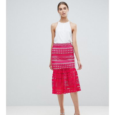 ASOS TALL premium occasion lace pep hem midi skirt co-ord
