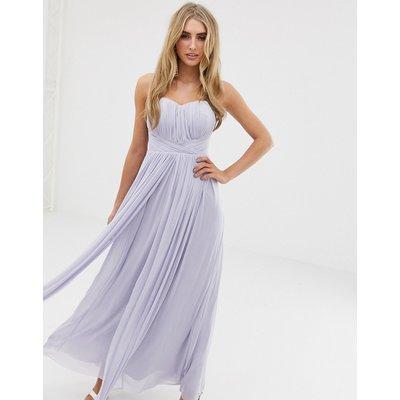 Lipsy bandeau chiffon maxi dress in cornflower blue