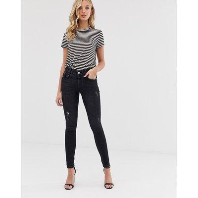 VERO MODA Vero Moda - Skinny-Jeans in Destroy-Optik - Grau