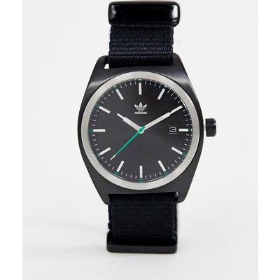 ADIDAS adidas - Z09 Process - Schwarze Uhr mit Canvas-Armband - Schwarz