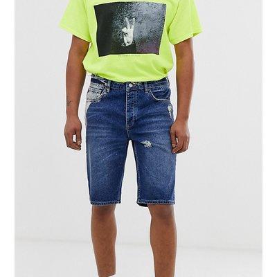 RECLAIMED VINTAGE Reclaimed Vintage - Jeansshorts mit Abnutzungen und Bleicheffekten - Blau