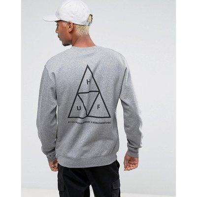 HUF HUF - Sweatshirt mit dreifachem Triangelmuster - Grau