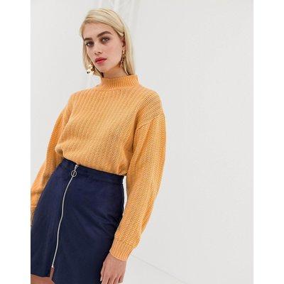 VERO MODA Vero Moda - Strukturierter Pullover mit Tunnelkragen und Streifen - Gelb