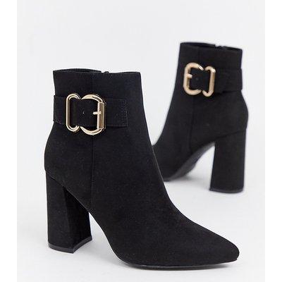 NEW LOOK New Look - Schwarze Stiefel mit Absatz und Schnallen - Schwarz