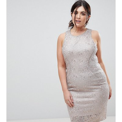 Coast Curve metallic shift dress