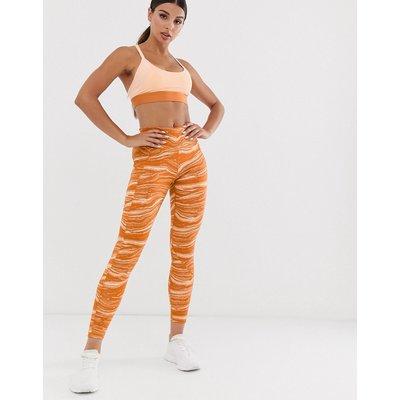 ADIDAS adidas - Wanderlust - Bedruckte Leggings - Orange