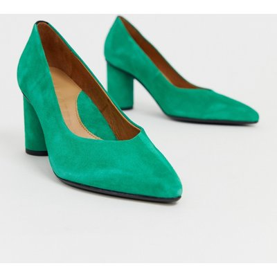 SELECTED Selected Femme - Spitze Pumps mit rundem Absatz - Grün