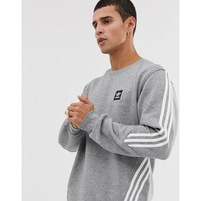 ADIDAS Adidas Skateboarding - Graues Sweatshirt mit 3 Streifen - Grau