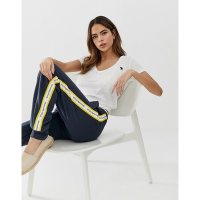 ABERCROMBIE & FITCH Abercrombie & Fitch - Jogginghose mit Zierband - Navy