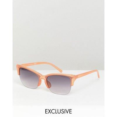 RECLAIMED VINTAGE Reclaimed Vintage Inspired - Braune Retro-Sonnenbrille - Braun