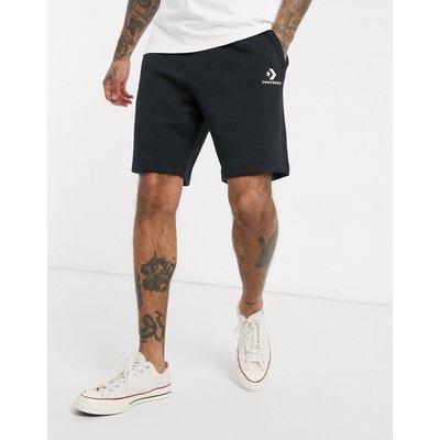 CONVERSE Converse - Schwarze Jersey-Shorts mit kleinem Logo - Schwarz