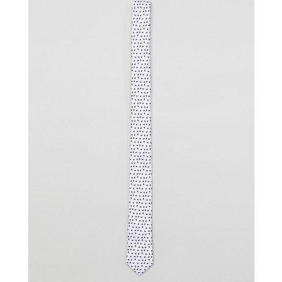 JACK & JONES Jack & Jones - Gemusterte Krawatte - Weiß