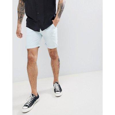 D-STRUCT D-Struct - Chino-Shorts mit Umschlag - Blau