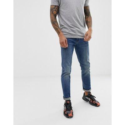 EMPORIO ARMANI Emporio Armani - J06 - Schmale Jeans in heller Waschung - Blau